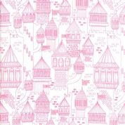 Moda - Once Upon a Time - Stacey Iest Hsu - 6244 - Fairy Castles on White - 20595 11 - Cotton Fabric